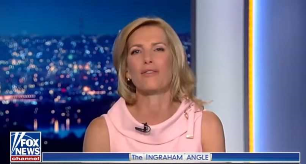 Laura Ingraham on The Ingraham Angle on Fox News. PIC: YouTube