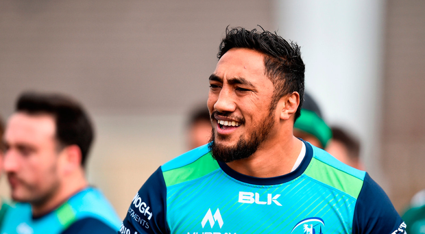 27 March 2018; Bundee Aki during Connacht Rugby squad training at the Sportsground in Galway. Photo by Seb Daly/Sportsfile