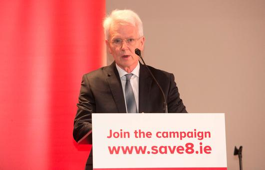 Dr. John Monaghan during the official Save the 8th vote no Campaign Launch at The Gresham Hotel, Dublin. Photo Gareth Chaney Collins