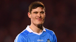 Diarmuid Connolly in action during the Allianz NFL game against Mayo in Castlebar last month - the last time he played for Dublin. Photo: Sportsfile