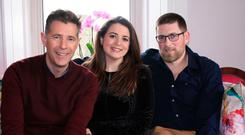 'Room to Improve's Dermot Bannon with Katie and Padraig