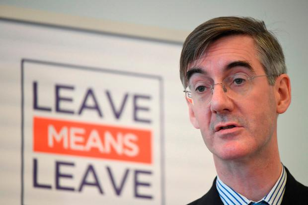Britain's Jacob Rees-Mogg's flippant solution to the Irish Border issue appears to be to just shrug it off. Picture: PA