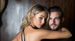 Loved-up Thalia Heffernan and her boyfriend Ryan McShane. Photo: David Conachy