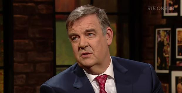 Bryan Dobson on last night's Late Late Show