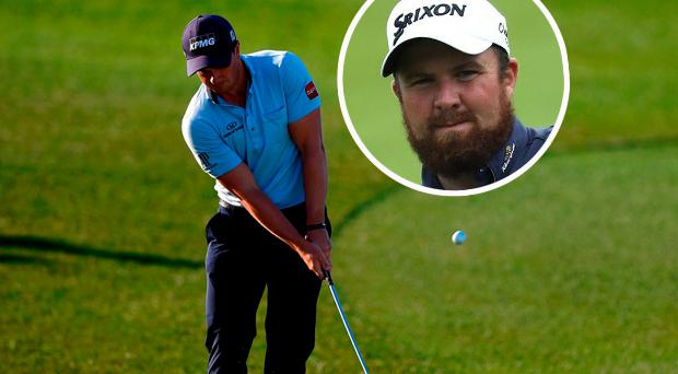 Paul Dunne and (inset) Shane Lowry