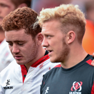 Ulster's Paddy Jackson, left, and Stuart Olding