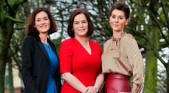 SUPPORT: Sisters Kate O'Connell, Mary Newman and Theresa Newman pictured at Portobello in Dublin. Photo: Steve Humphreys