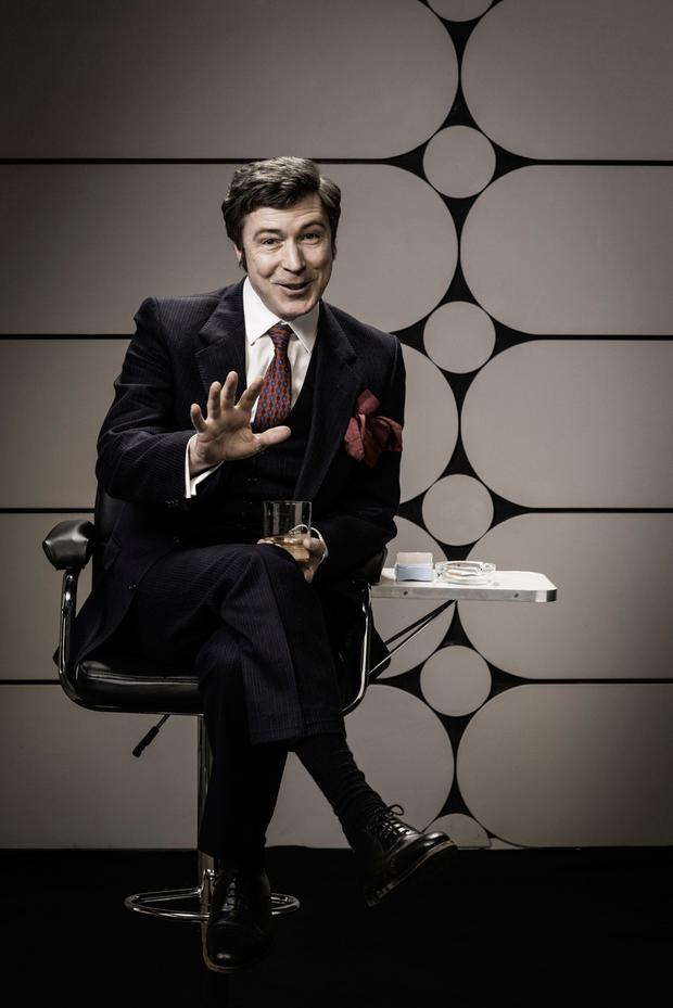 STARRING ROLE: Aidan Gillen in the TV biopic of legendary Irish comedian Dave Allen, an icon of the 1970s