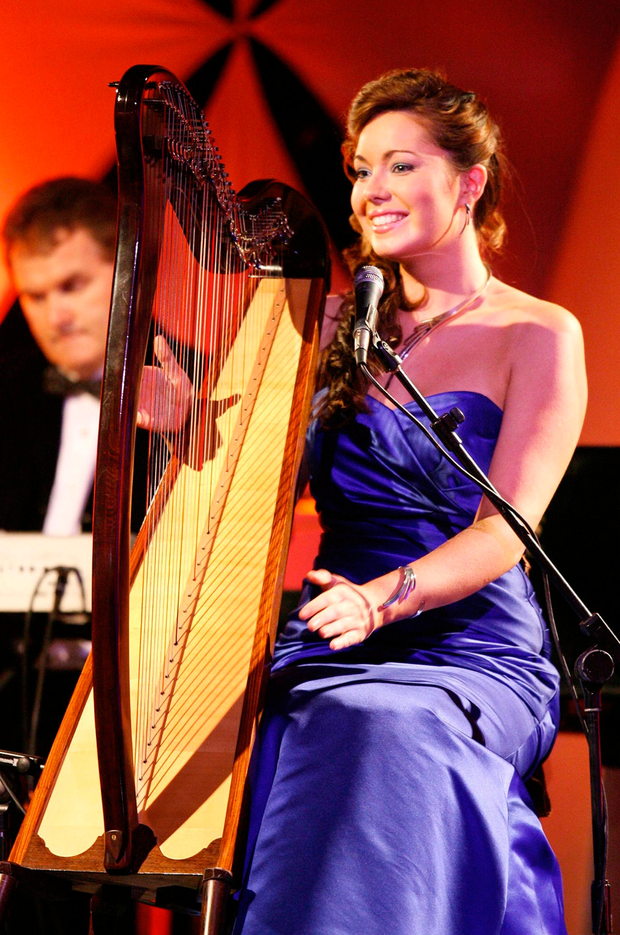 SYMBOL: Katie Crean plays the harp at the Rose of Tralee