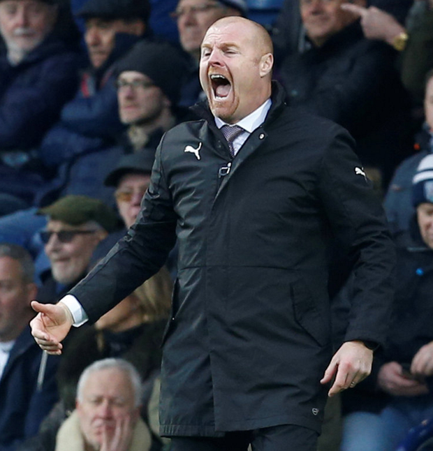 Burnley manager Sean Dyche. Photo: Reuters