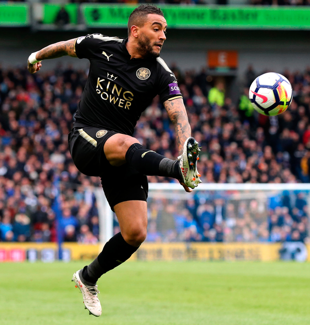 Leicester's Danny Simpson. Photo: PA