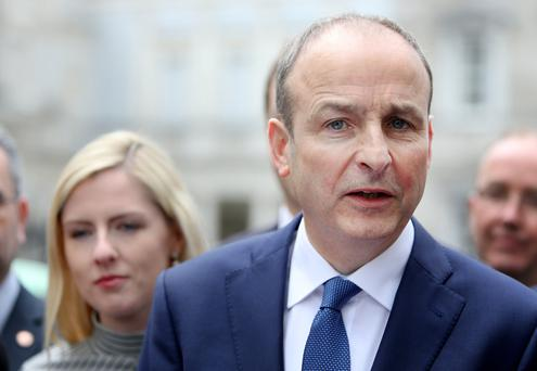 She's behind you: Lisa Chambers could be a contender to succeed Micheal Martin as Fianna Fail leader. Photo: Gerry Mooney
