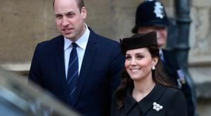 Prince William and Kate Middleton at St George's Chapel, Windsor Castle, Windsor. Photo: Simon Dawson/PA Wire