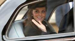 Kate Middleton leaves the Easter ceremony in her car: Simon Dawson/PA Wire
