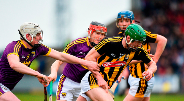 Martin Keoghan of Kilkenny in action against Liam Ryan of Wexford