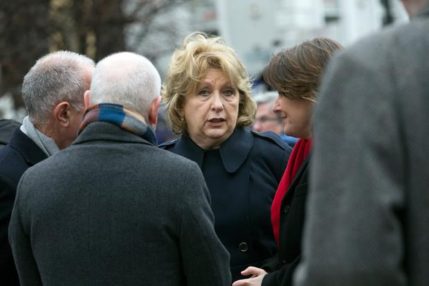 Former President Mary McAleese at the Easter 1916 Commemoration ceremony at the GPO. Photo: Tony Gavin 1/4/2018