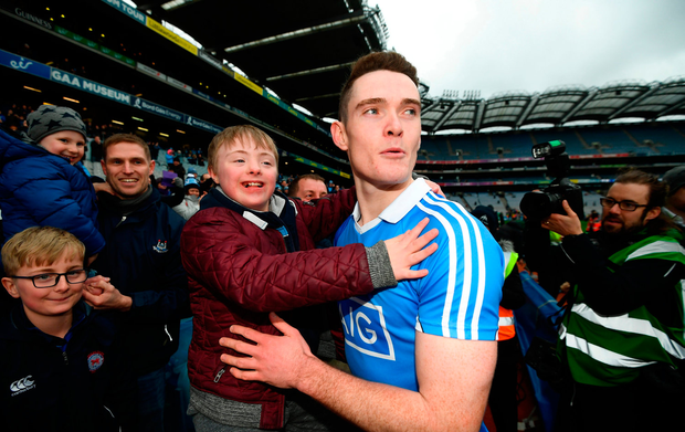 Mark Butler, age 12, from Raheny, Dublin, with Brian Fenton
