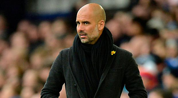 Manchester City manager Pep Guardiola. Photo: Peter Powell/Reuters