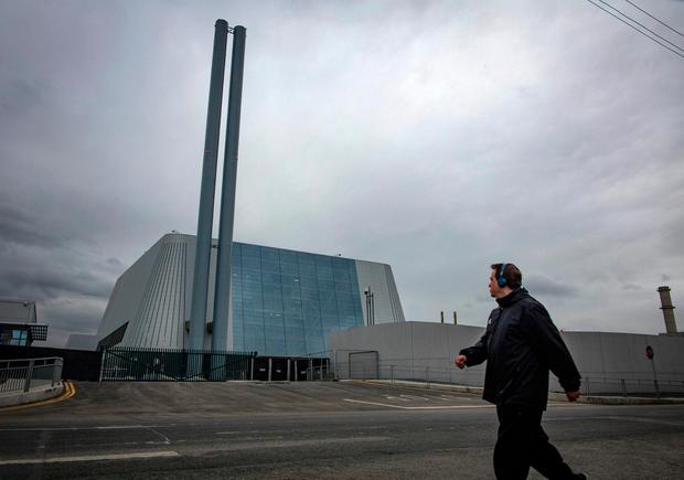 Poolbeg Incinerator in Dublin. Picture: Arthur Carron