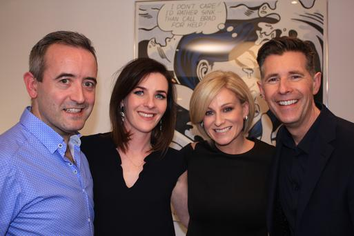 Rory, Lorna, QS Lisa and Dermot on the final episode of Room to Improve