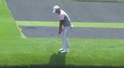Si Woo Kim with a wonderful trick shot at Augusta