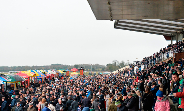 There were big crowds in Fairyhouse yesterday