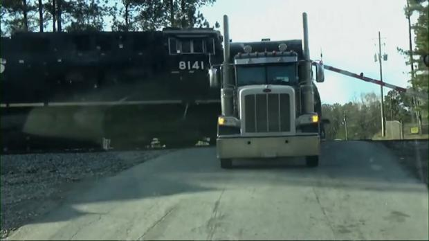 A train hits a truck on a crossing in Georgie (Elijah Brown)