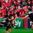 Sam Arnold of Munster is tackled by Ma'a Nonu of RC Toulon