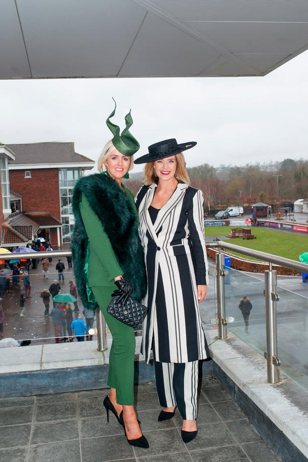 Aoibhin Garrihy with best dressed lady winner Charlene Byers at Cork Racecourse. Picture: Sean Jeffries