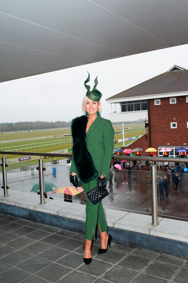 Best dressed lady winner Charlene Byres at Cork Racecourse. Picture: Sean Jeffries