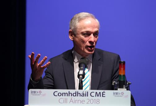 Minister for Education, Richard Bruton, TD at the Irish National Teachers Organisation, (INTO) Annual Congress at the INEC in Killarney, Co. Kerry. Picture credit; Damien Eagers