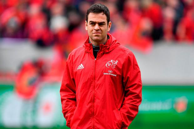 Munster head coach Johann van Graan. Photo: Brendan Moran/Sportsfile