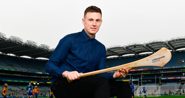 Austin Gleeson in Croke Park yesterday for the launch of the Littlewoods Ireland Go Games Provincial Days. Photo: Sportsfile