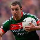 Keith Higgins will make his 155th appearance for Mayo against Roscommon on Saturday. Photo: Sportsfile