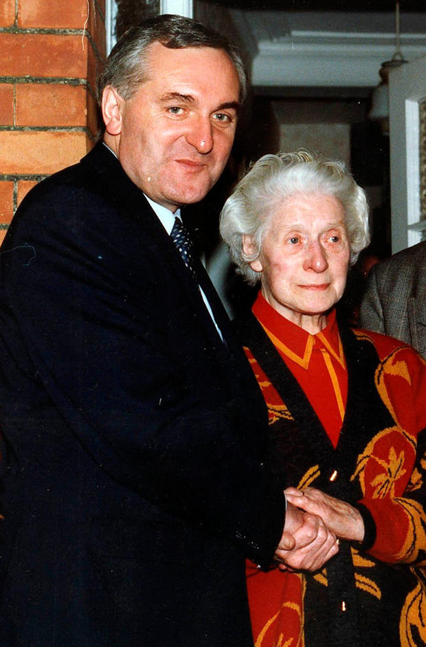 Former Taoiseach Bertie Ahern with his mother Julia