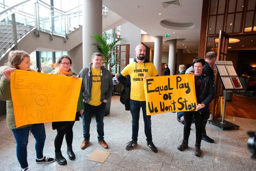 ASTI general secretary Kieran Christie stressed that the union's longstanding battle against varying pay scales within the teaching profession will continue