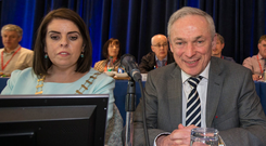 TUI president Joanne Irwin told Richard Bruton that the directive 'came from nowhere'. Photo: Mark Condren