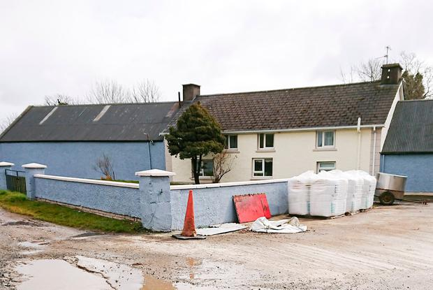 The farmhouse home of tragic victim Wilson McGirr in Raphoe, Co Donegal. Photo: North West Newspix