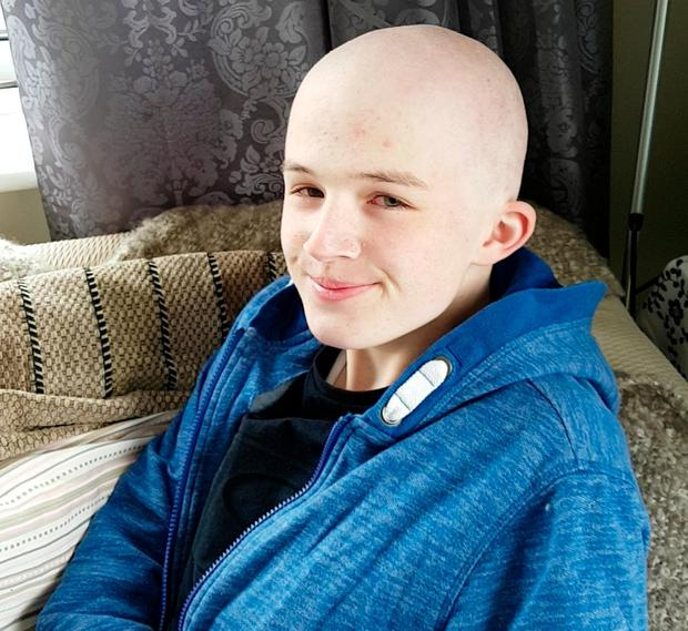 Eoghan underwent chemotherapy to battle leukaemia