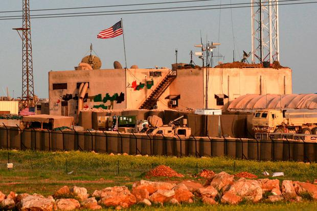 A US military base in the al-Asaliyah village, between Aleppo and the northern town of Manbij, earlier this month. Photo: Delil Souleiman/AFP/Getty Images