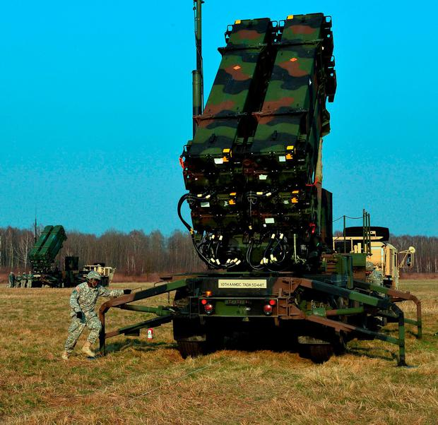 US Nato troops emplacing the Patriot air and missile defence system in Poland in 2015. Photo: Janek Skarzynski/AFP/Getty Images