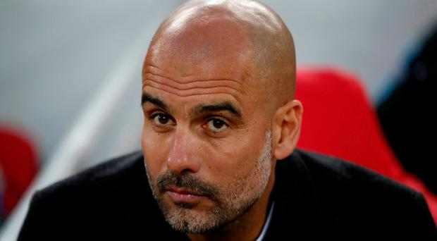 Manchester City manager Pep Guardiola before the match. Action Images via Reuters/Carl Recine