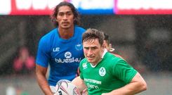 4 November 2017; Billy Dardis of Ireland in action against Samoa during the Silicon Valley Sevens Tournament between Samoa and Ireland at Avaya Stadium in San Jose, California, USA. Photo by Jack Megaw/Sportsfile