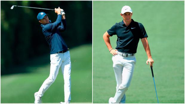 Jordan Spieth (left) and Rory McIlroy (right).