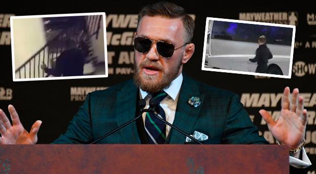 Conor McGregor handed himself in to New York police after an alleged incident with bus
