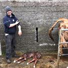 Ciaran Moran on his farm in Roscommon.