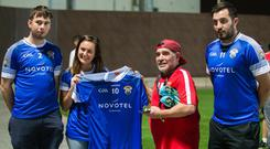Padraig Kennedy, Rebecca Marr, Diego Maradona and Andrew Hogan. Photo: Ammar Ali, Eire Og Fujairah Facebook (https://www.facebook.com/eireogfujairah/)