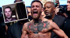 Conor McGregor and (inset) MMA journalist Jim Edwards