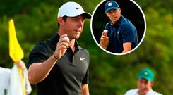 Rory McIlroy and (inset) Jordan Spieth
