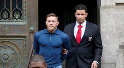 Conor McGregor appeared in a New York court last April. REUTERS/Brendan McDermid